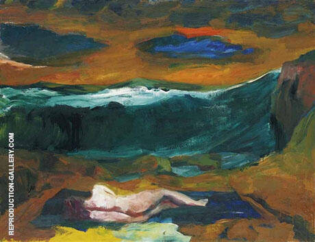 Blue Clouds 1963 By Elmer Bischoff Replica Paintings on Canvas - Reproduction Gallery