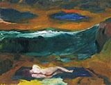 Blue Clouds 1963 By Elmer Bischoff