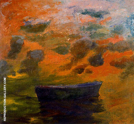 Reproduction of Boat-and-Clouds-1967 by Elmer Bischoff | Oil Painting Replica On CanvasReproduction Gallery