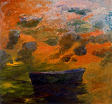 Boat-and-Clouds-1967 By Elmer Bischoff