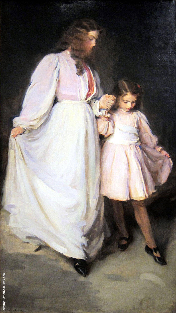 Dorothea and Francesca The Dancing Lesson 1898 By Cecilia Beaux