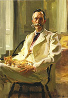 Man with the Cat Henry Sturgis Drinker 1898 By Cecilia Beaux