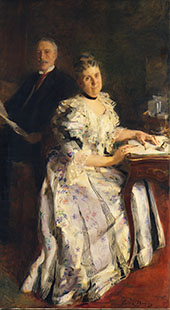Mr and Mrs Anson Phelps Stokes 1898 By Cecilia Beaux