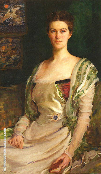 Reproduction of Mrs Isaac Newton Phelps Stokes Edith Minturn 1898 by Cecilia Beaux | Oil Painting Replica On CanvasReproduction Gallery