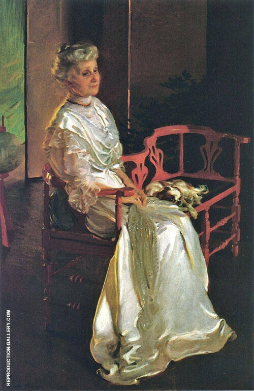 Mrs Richard Low Divine Susan Sophia Smith 1907 Painting By Cecilia Beaux