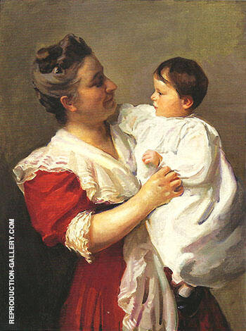 Mrs Stedman Buttrick and Son John 1909 By Cecilia Beaux