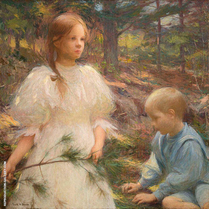 Children in the Woods 1898 By Frank Weston Benson
