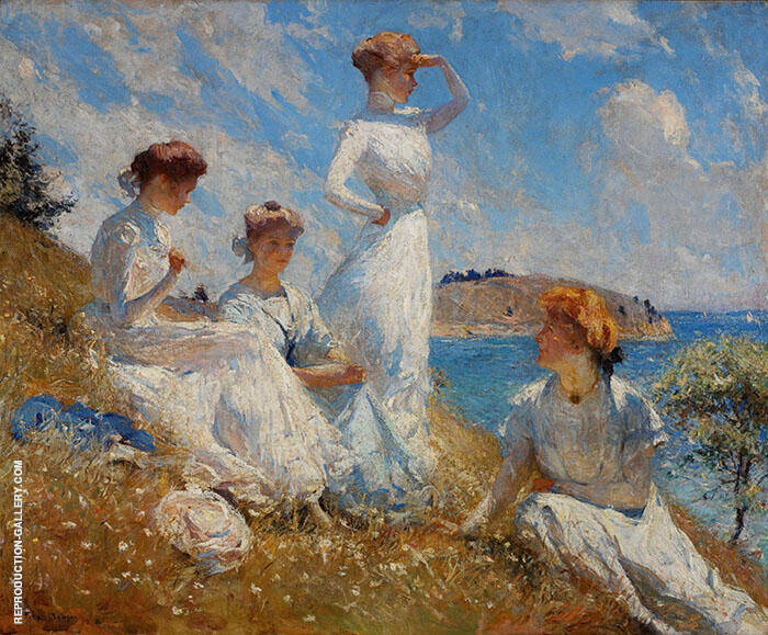 Summer 1909 Painting By Frank Weston Benson - Reproduction Gallery