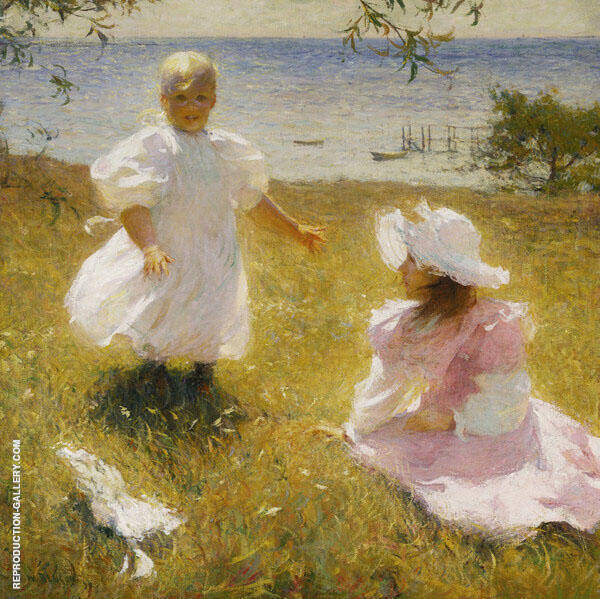 The Sisters By Frank Weston Benson Replica Paintings on Canvas - Reproduction Gallery
