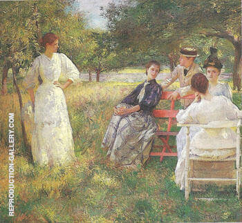 Reproduction of In the Orchard 1891 by Frank Weston Benson | Oil Painting Replica On CanvasReproduction Gallery
