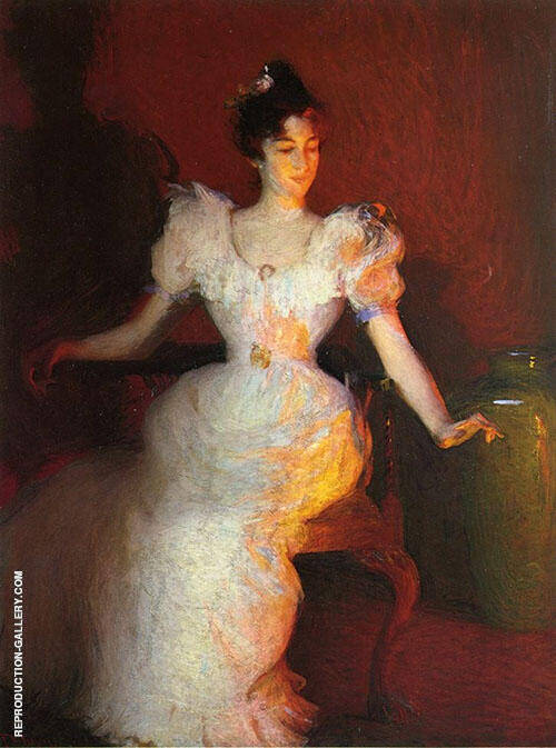 Firelight 1893 By Frank Weston Benson Replica Paintings on Canvas - Reproduction Gallery