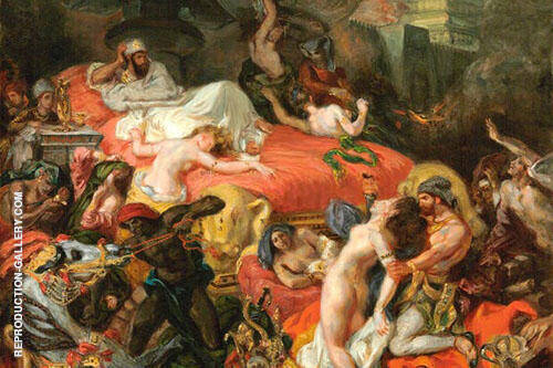 Death of Sardanapalus By Eugene Delacroix