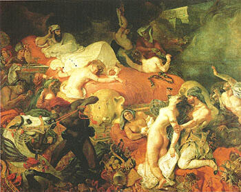 Death of Sardanapalus By F.V.E. Delcroix - Oil Paintings & Art Reproductions - Reproduction Gallery