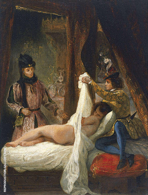 Louis d' Orleans Showing his Mistress c1825 Painting By Eugene Delacroix