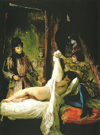 Louis d' Orleans Showing his Mistress 1825-26 By F.V.E. Delcroix - Oil Paintings & Art Reproductions - Reproduction Gallery