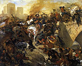 The Battle of Taillebourg 1834 By Eugene Delacroix