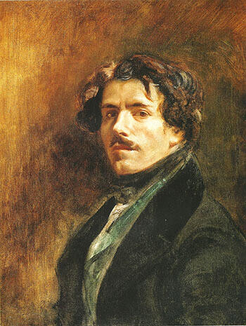 Self Portrait c 1837 By F.V.E. Delcroix - Oil Paintings & Art Reproductions - Reproduction Gallery