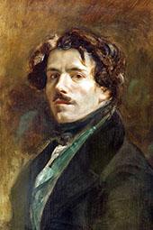 Self Portrait c 1837 By Eugene Delacroix