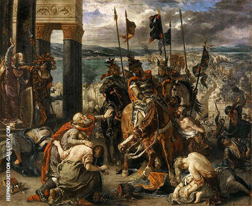Reproduction of The Entry of the Crusaders into Constantinople 1840 by F.V.E. Delcroix | Oil Painting Replica On CanvasReproduction Gallery