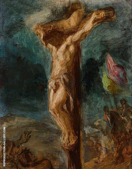 Christ on the Cross 1845 By F.V.E. Delcroix Replica Paintings on Canvas - Reproduction Gallery