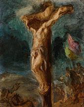 Christ on the Cross 1845 By Eugene Delacroix