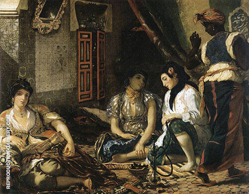 Women of Algiers in their Apartment 1834 By Eugene Delacroix