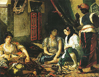 Woman of Algiers in their Apartment 1834 By F.V.E. Delcroix