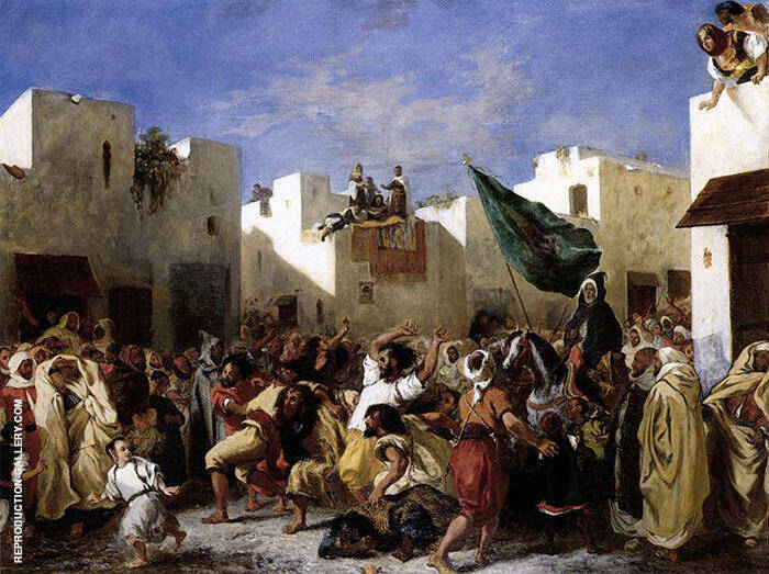 Reproduction of The Fanatics of Tangier 1837 by F.V.E. Delcroix | Oil Painting Replica On CanvasReproduction Gallery