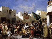 The Fanatics of Tangier 1837 By Eugene Delacroix