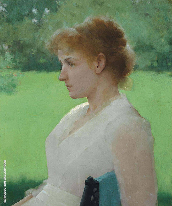 In Summer 1887 Painting By Frank Weston Benson - Reproduction Gallery