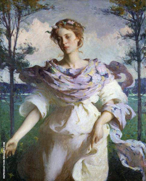Summer 1890 By Frank Weston Benson Replica Paintings on Canvas - Reproduction Gallery