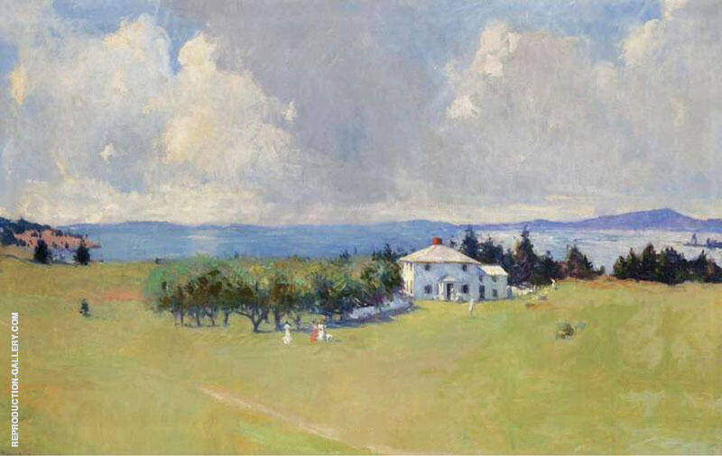 Wooster Farm The House at North Haven 1912 Painting By Frank Weston Benson