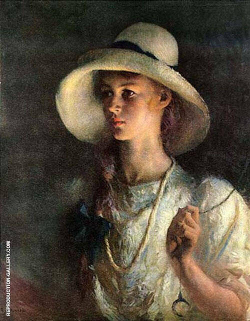 My Daughter By Frank Weston Benson Replica Paintings on Canvas - Reproduction Gallery