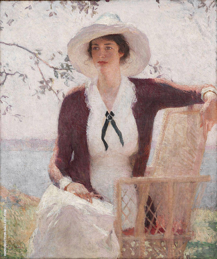 My Daughter Elisabeth 1914 By Frank Weston Benson Replica Paintings on Canvas - Reproduction Gallery