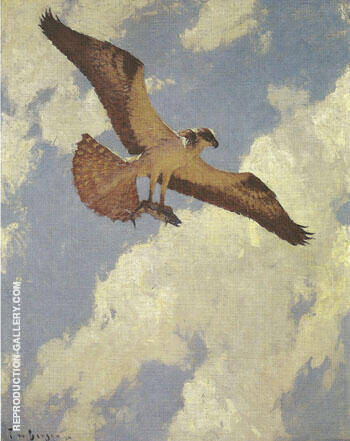 Osprey and Fish 1924 By Frank Weston Benson - Oil Paintings & Art Reproductions - Reproduction Gallery