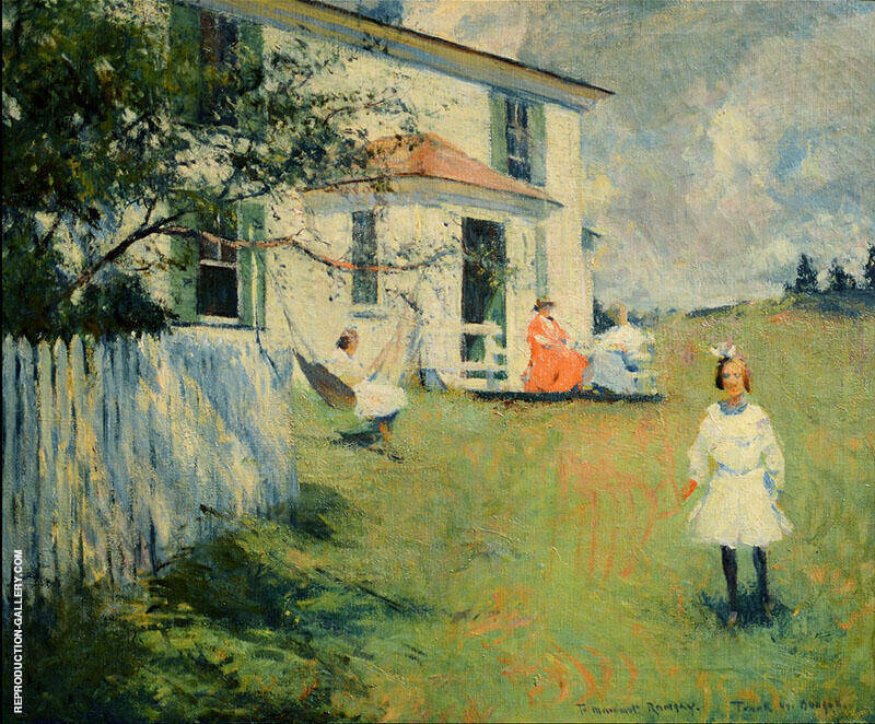 The Benson Family at Wooster Farm North Haven Maine 1901 Painting By ...