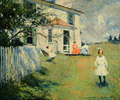 The Benson Family at Wooster Farm North Haven Maine 1901 By Frank Weston Benson