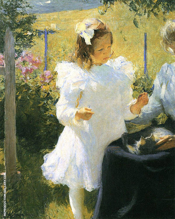 Sunlight 1902 By Frank Weston Benson Replica Paintings on Canvas - Reproduction Gallery