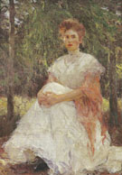 Eleanor in the Pines, 1906 By Frank Weston Benson