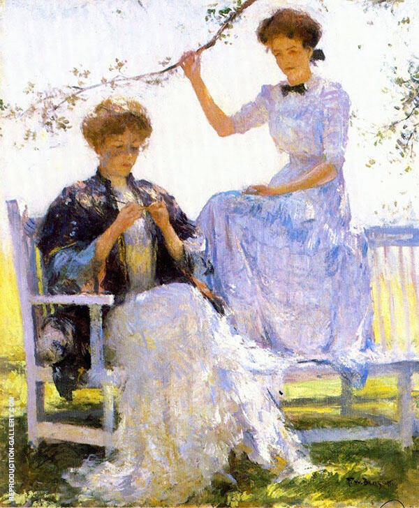Sunshine and Shadow  1911 By Frank Weston Benson Replica Paintings on Canvas - Reproduction Gallery