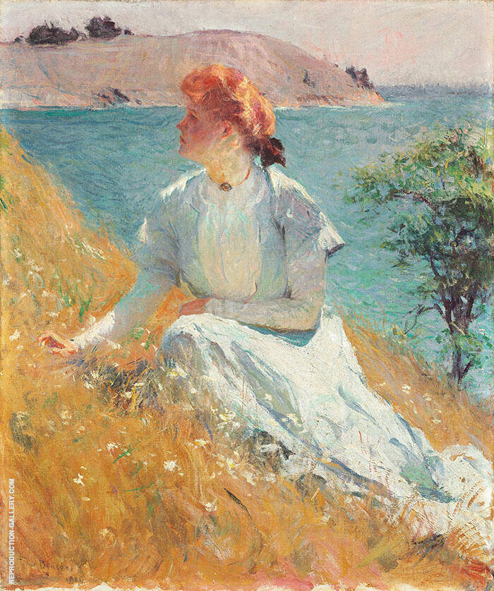Margaret Gretchen Strong 1909 By Frank Weston Benson Replica Paintings on Canvas - Reproduction Gallery