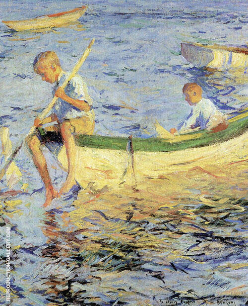 Two Boys in a Boat 1904 Painting By Frank Weston Benson
