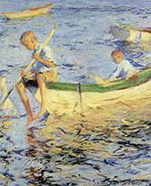 Two Boys in a Boat 1904 By Frank Weston Benson