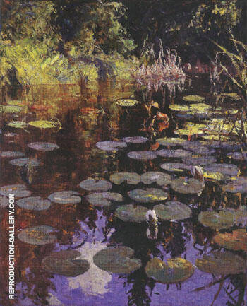 Lily Pond 1923 By Frank Weston Benson Replica Paintings on Canvas - Reproduction Gallery