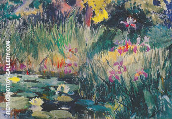 Iris and Lilies 1922 By Frank Weston Benson
