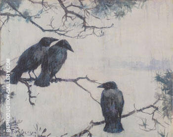 Crows in the Rain 1929 By Frank Weston Benson