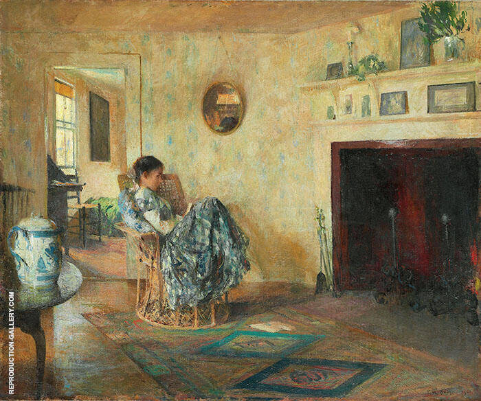 Rainy Day 1906 Painting By Frank Weston Benson - Reproduction Gallery