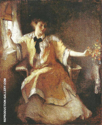 Young Girl by a Window 1911 By Frank Weston Benson - Oil Paintings & Art Reproductions - Reproduction Gallery