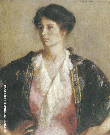 Portrait of Elisabeth c.a. 1918 By Frank Weston Benson