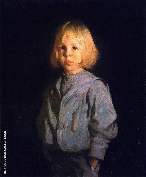 Portrait of a Boy Painting By Frank Weston Benson - Reproduction Gallery